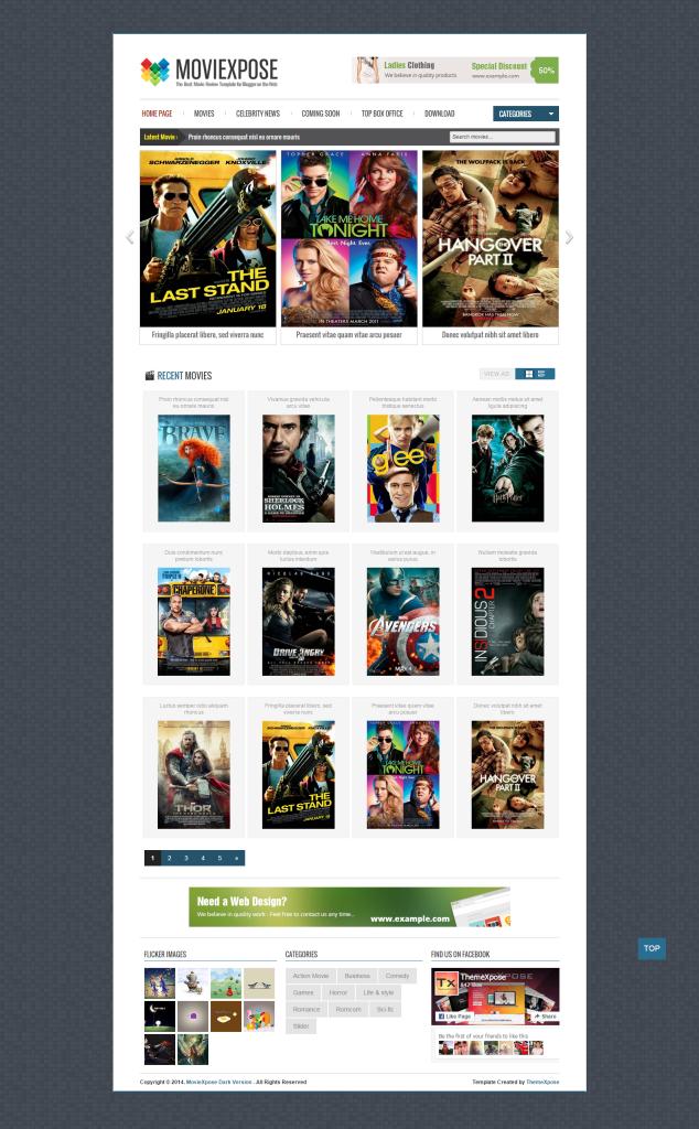 MovieXpose Dark Version   Your Blog Description