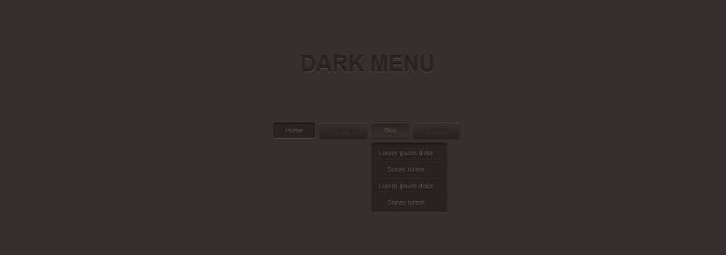 Dark Menu  Pure CSS3 Two Level Menu