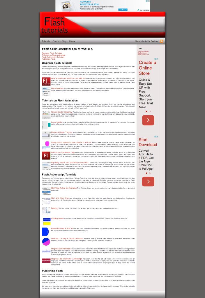 Free Basic Adobe Flash Tutorials