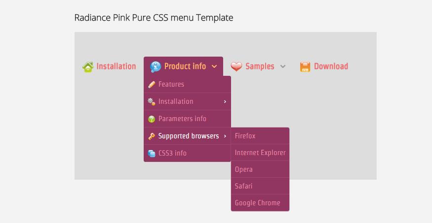 Pure CSS menu