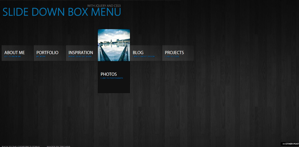 Slide Down Menu with JQuery and CSS3