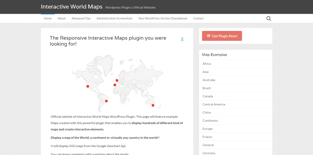 Interactive World Maps   WordPress Plugin   Official Website