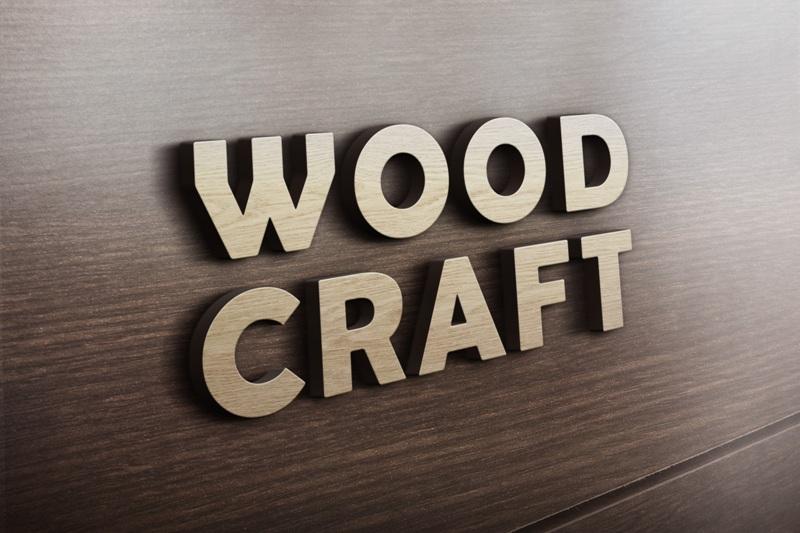 6. 3D-Wooden-Logo