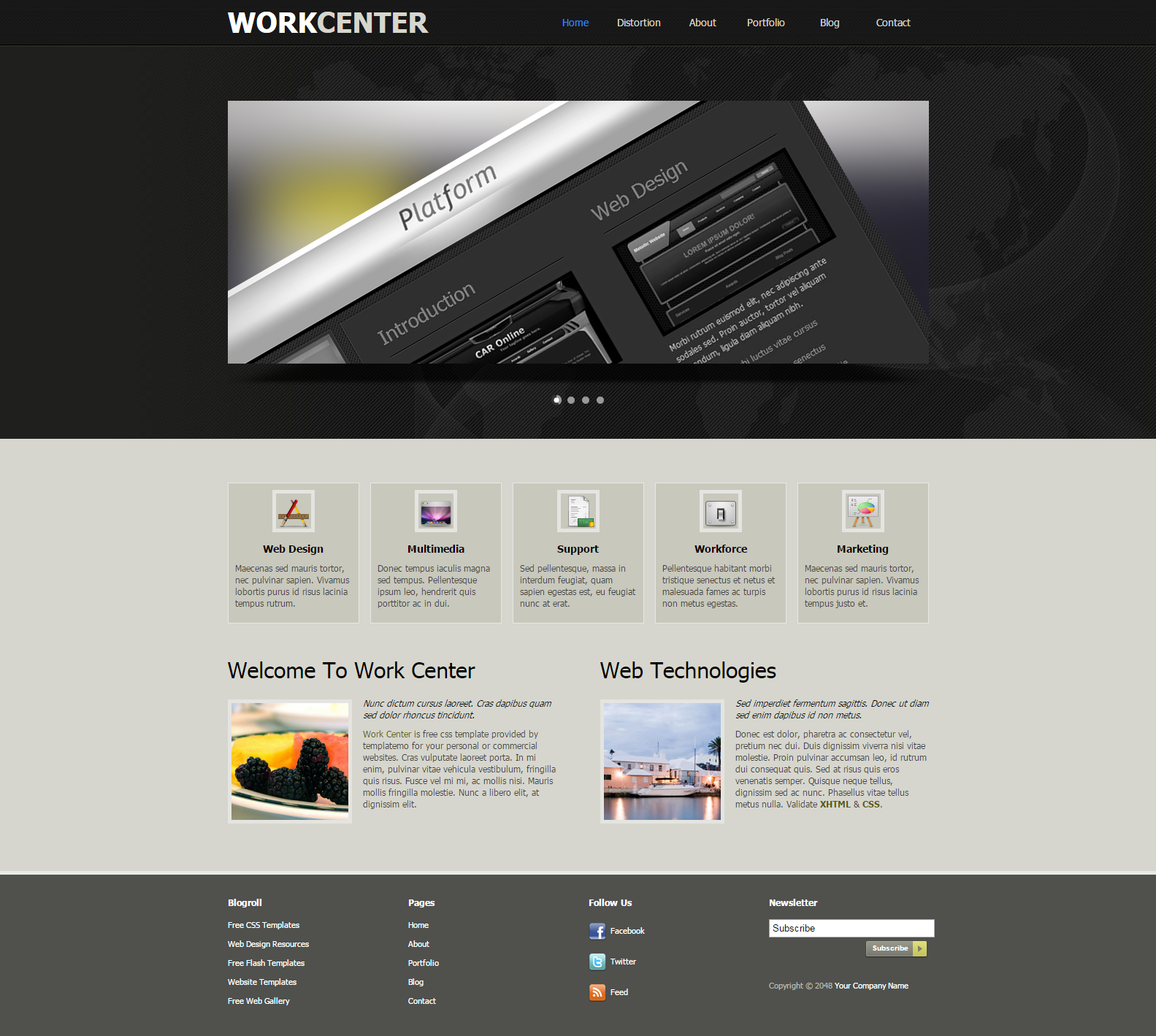 Free Dreamweaver Templates Web Design Inspiration Templates And