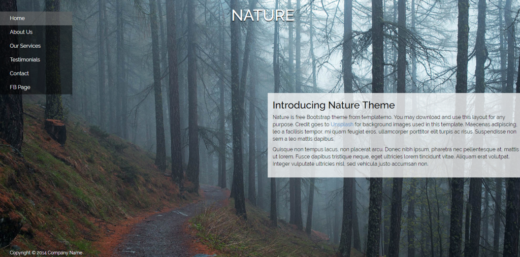 04. Nature Bootstrap Theme