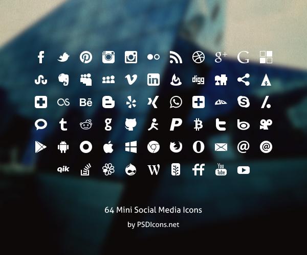 10. 64 mini social-icons
