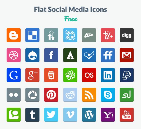 2. Flat Icons