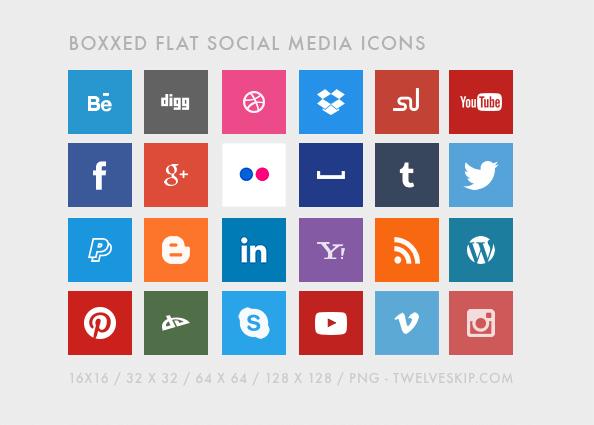 4. Socialmedia Flat