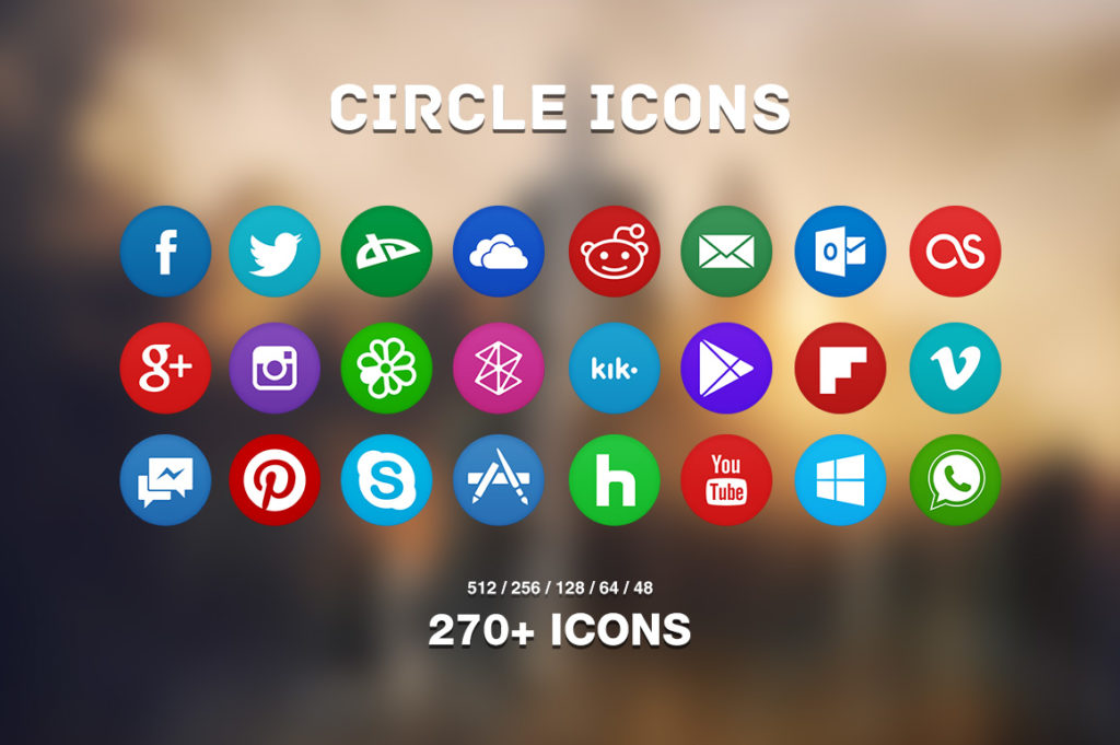 5. Circle Icons Pack by Martz