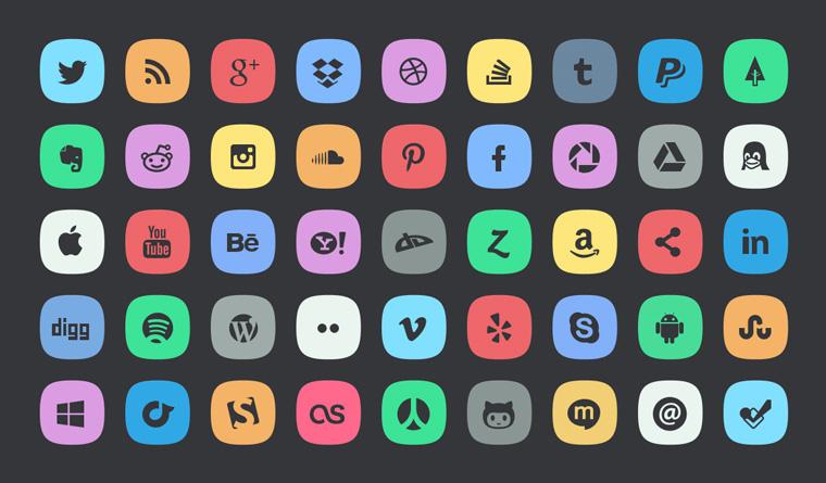 8. Subtle Socialmeida Icons