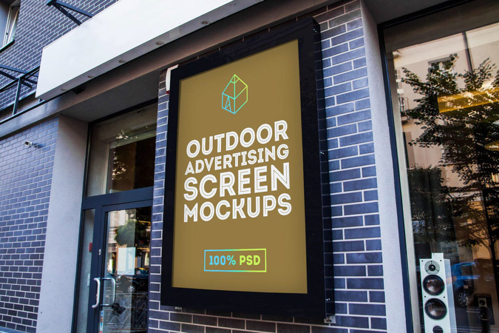 2. Outdoor Advertising Screen Mock-Up