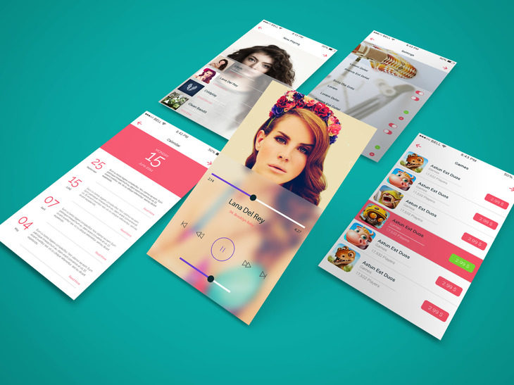 4. App Screen Showcase Mock-Up
