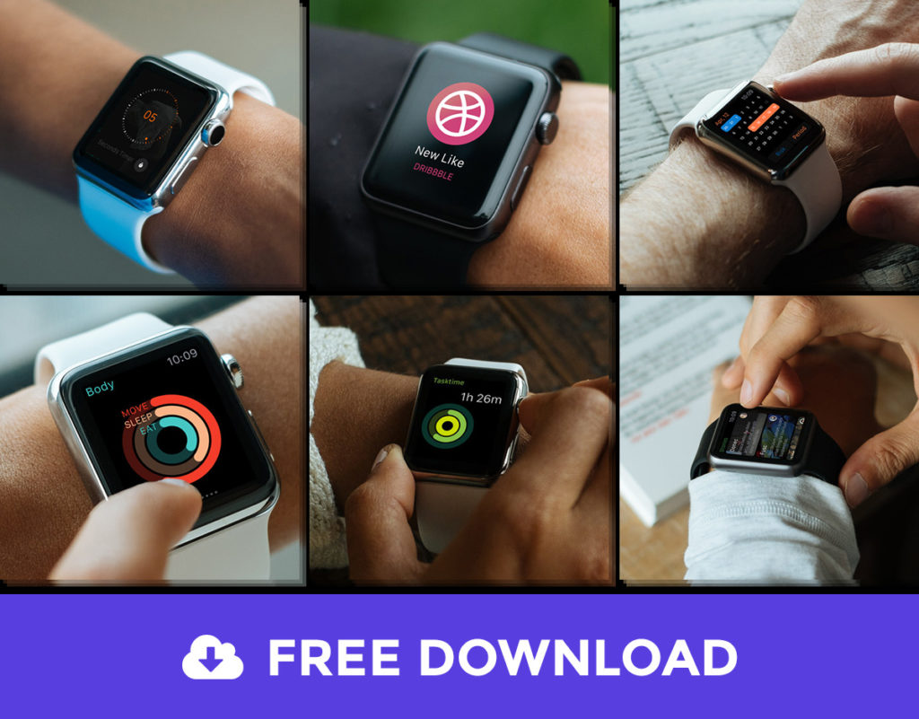 6. Free Apple Watch Mock-Up