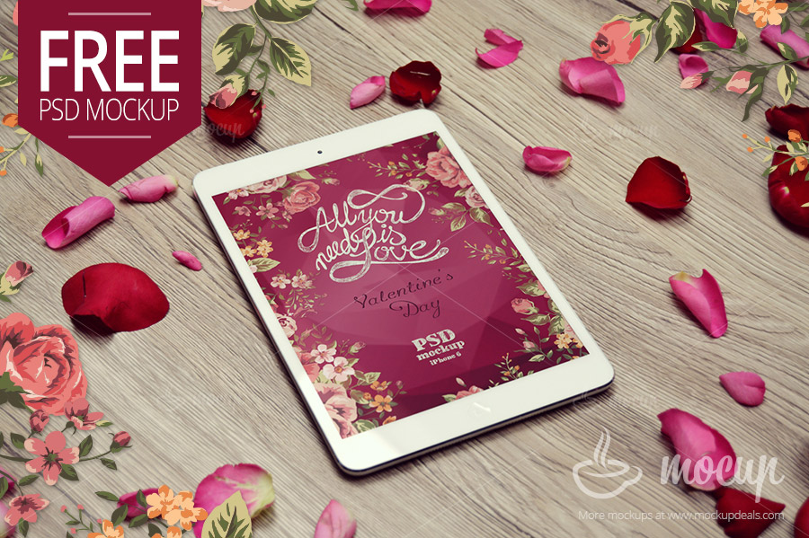 9. Valentine Ipad mini Mock-Up